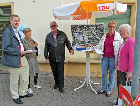 Infostand der CDU Rohrbach zum Thema Konversion
