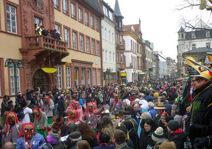 Heidelberger Fastnachtsumzug 2013 war wieder ein Zuschauermagnet. Foto: Pfisterer