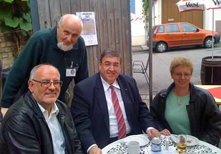 V. l. n. r.: Werner Pfisterer, Klaus Weirich, Dr. Karl A. Lamers und Karin Weidenheimer.