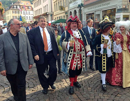 Heidelberger Herbst: Werner Pfisterer, Dr. Karl A. Lamers MdB und Perkeo Thomas Barth.