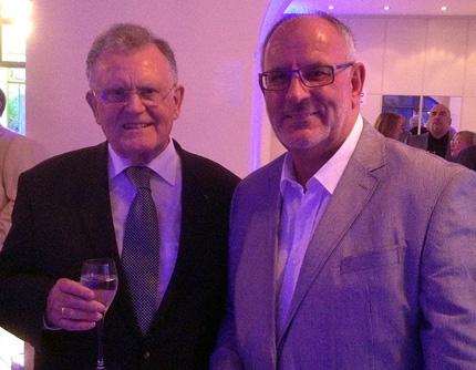Seit vielen Jahren gute Freunde und trafen aktuell in Leimen aufeinander: Ministerpräsident a.D. Erwin Teufel und Werner Pfisterer.
