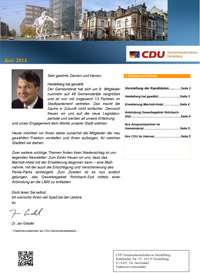 Newsletter der CDU-Fraktion HD - Juni 2014