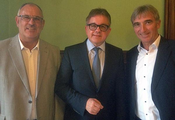 V.l.: Werner Pfisterer, Guido Wolf und Karl Klein.