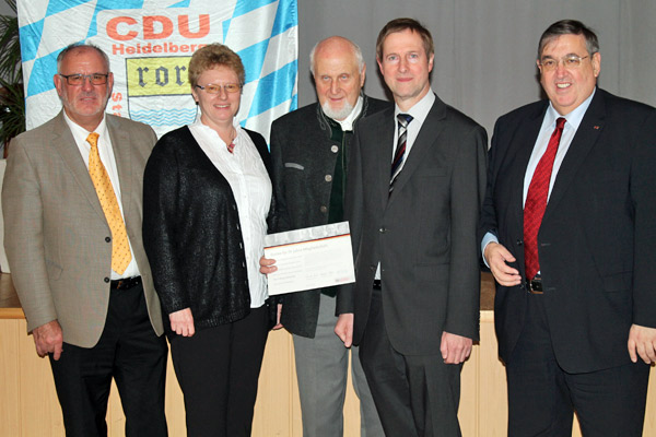V.l.n.r.: Werner Pfisterer, Karin Weidenheimer, Klaus Weirich, Eyke Peveling und Dr. Karl A. Lamers.